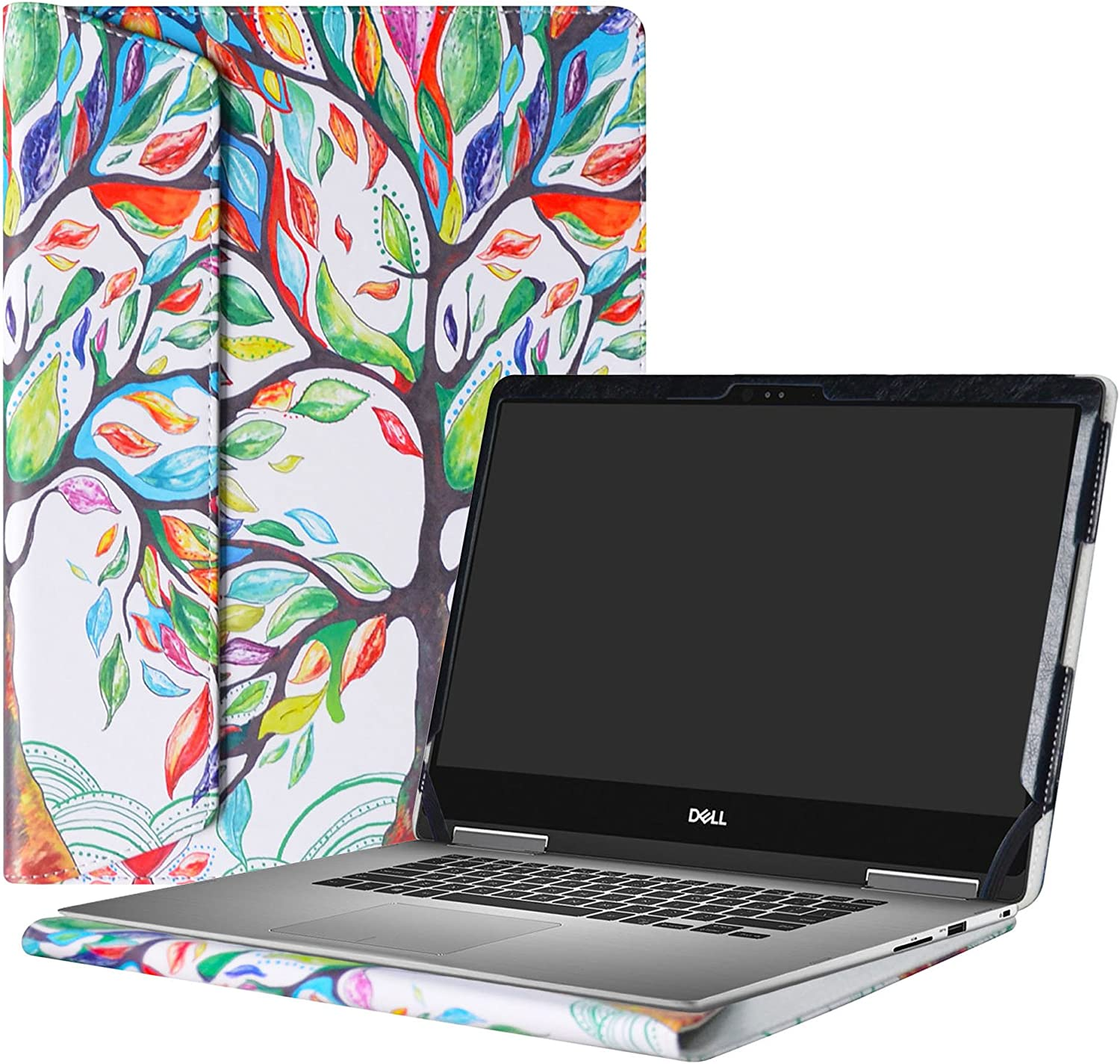 """Alapmk Protective Case Cover for 13.3"""" Dell Inspiron 13 2-in-1 7373 i7373 / Inspiron 13 7370 i7370 Laptop(Warning:only fit Model 7373 7370),Love Tree"""