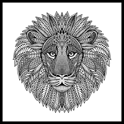 Zen Leo Lion ColorMe Wall Mural by Magic Murals Adult Coloring