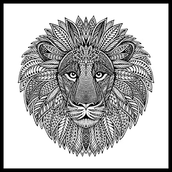 Zen Leo Lion ColorMe! Wall Mural by Magic Murals - Adult Coloring ...