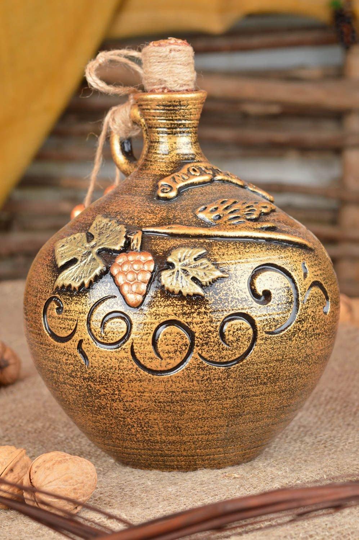 Grande botella de terracota con tapón 1.5 litro hecha Sonora: Amazon.es: Hogar