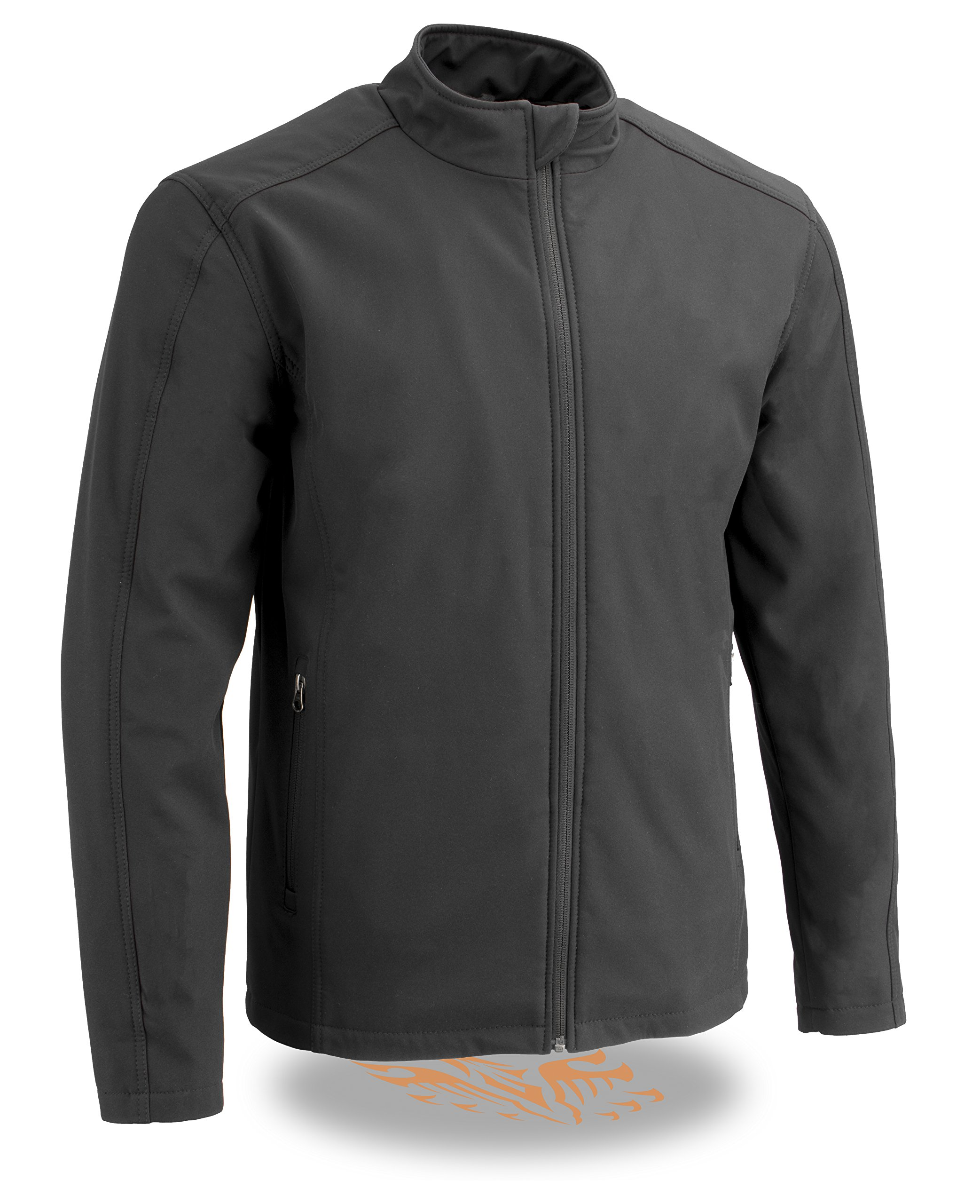 Milwaukee Performance Men's Waterproof Lightweight Zipper Front Soft Shell Jacket (Black, 4X)