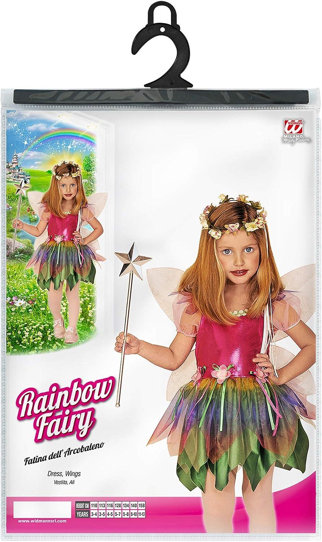 WIDMANN 55576 costume fatina dell arcobaleno 128 cm