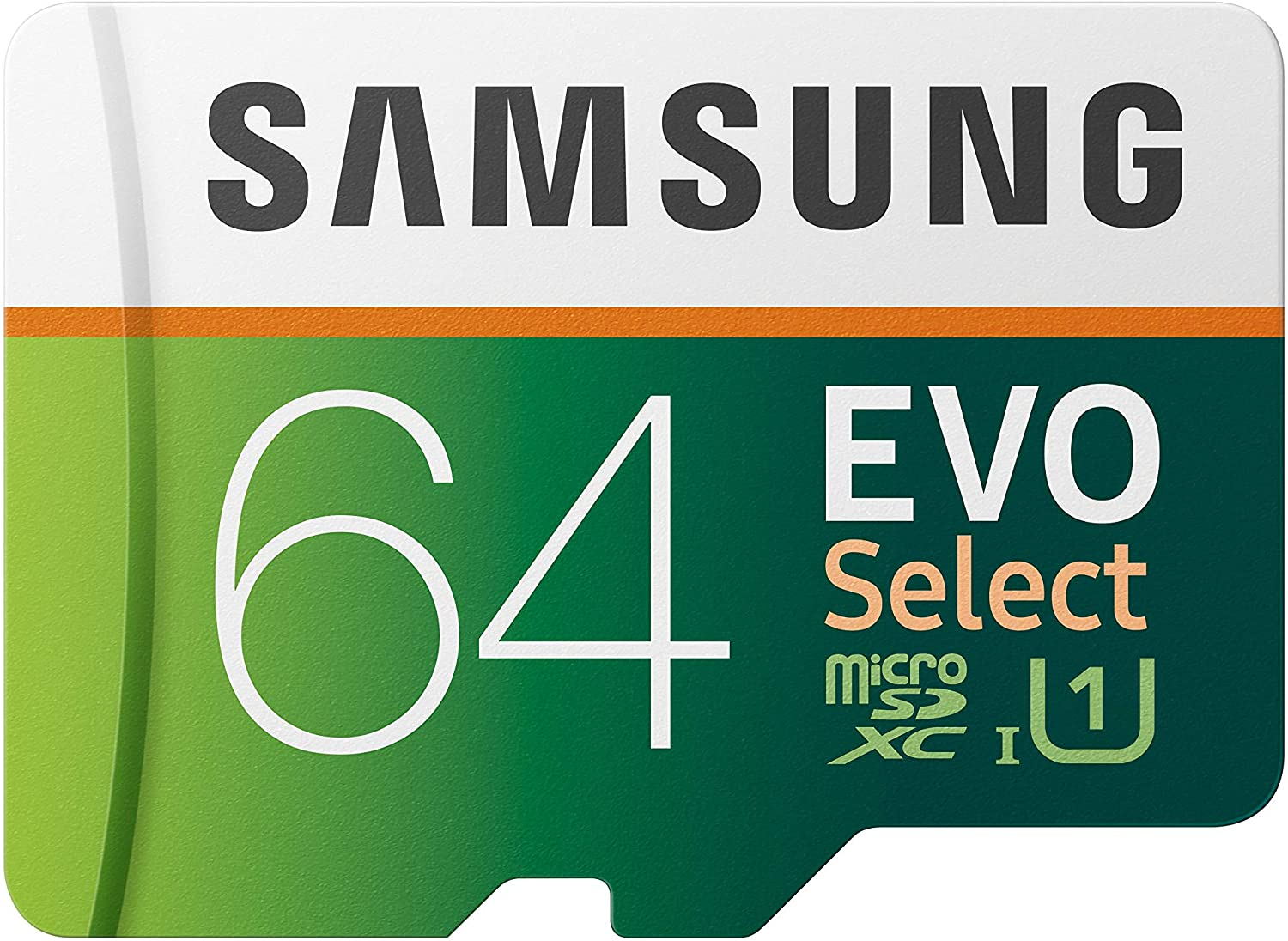 SAMSUNG EVO Select 64GB microSDXC UHS-I U1 100MB/s Full HD & 4K UHD Memory Card with Adapter (MB-ME64HA): Computers & Accessories