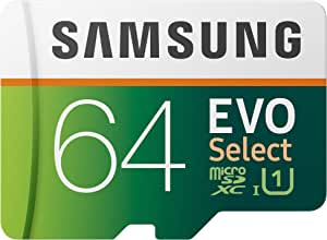 Samsung EVO Select 64GB microSDXC UHS-I U1 100MB/s Full HD & 4K UHD Memory Card with Adapter (MB-ME64HA)