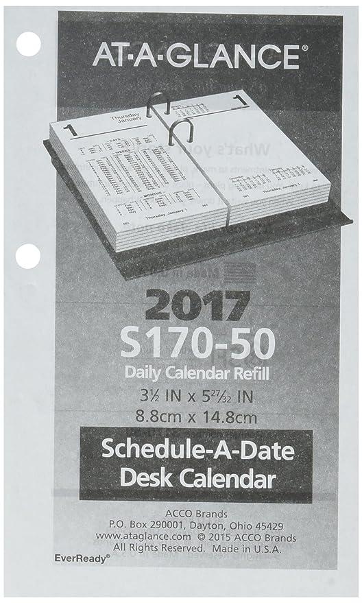 Amazon.com: At-A-Glance Calendario de computadora 2017 ...