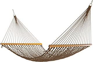 product image for Nags Head Hammocks NH13MOC Double Mocha Duracord Rope Hammock with Free Extension Chains & Tree Hooks, Handcrafted in The USA, Accommodates 2 People, 450 LB Weight Capacity, 13 ft. x 55 in.
