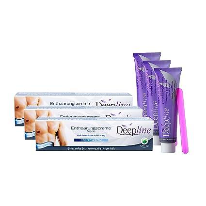 3 cremas depilatorias de Deepline para hombre quemantienen la piel suave, flexible y lisa,