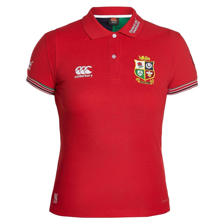 British & Irish Lions 2017 Ladies Rugby Training Polo Shirt - Tango Red Canterbury