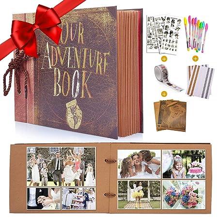 MMTX Álbum de Fotos DIY Scrapbook Album Up Extensible Regalo único para El Cumpleaños/Aniversario / Boda/Graduación, con Kit de Accesorios de ...