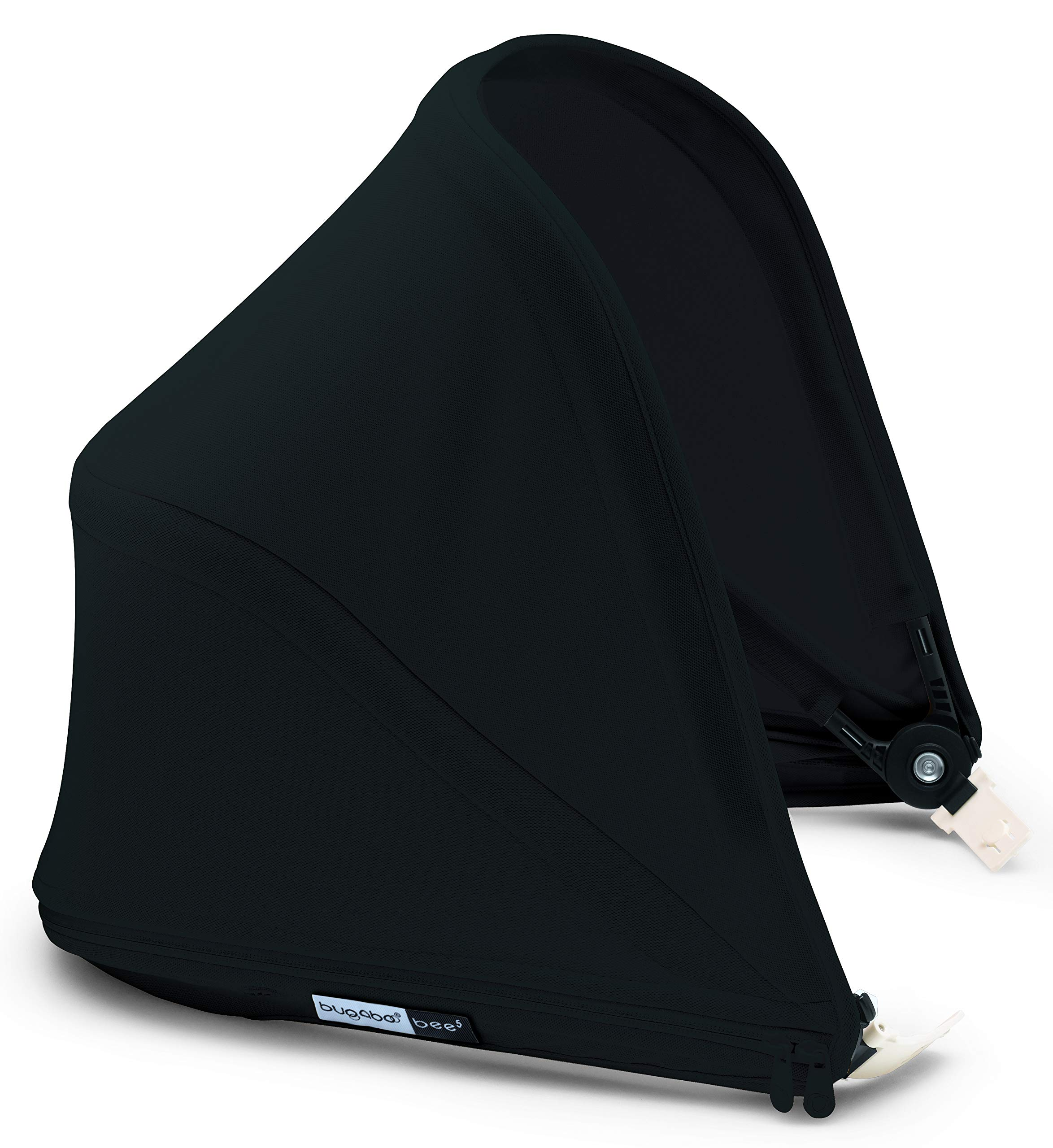 Bugaboo Bee5 Sun Canopy, Black - Extendable Sun Shade for Full Weather Protection, Machine Washable by Bugaboo