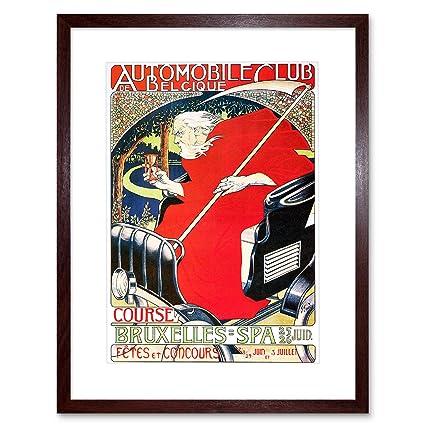 Amazon The Art Stop Vintage AD Automobile Club Belgium CAR