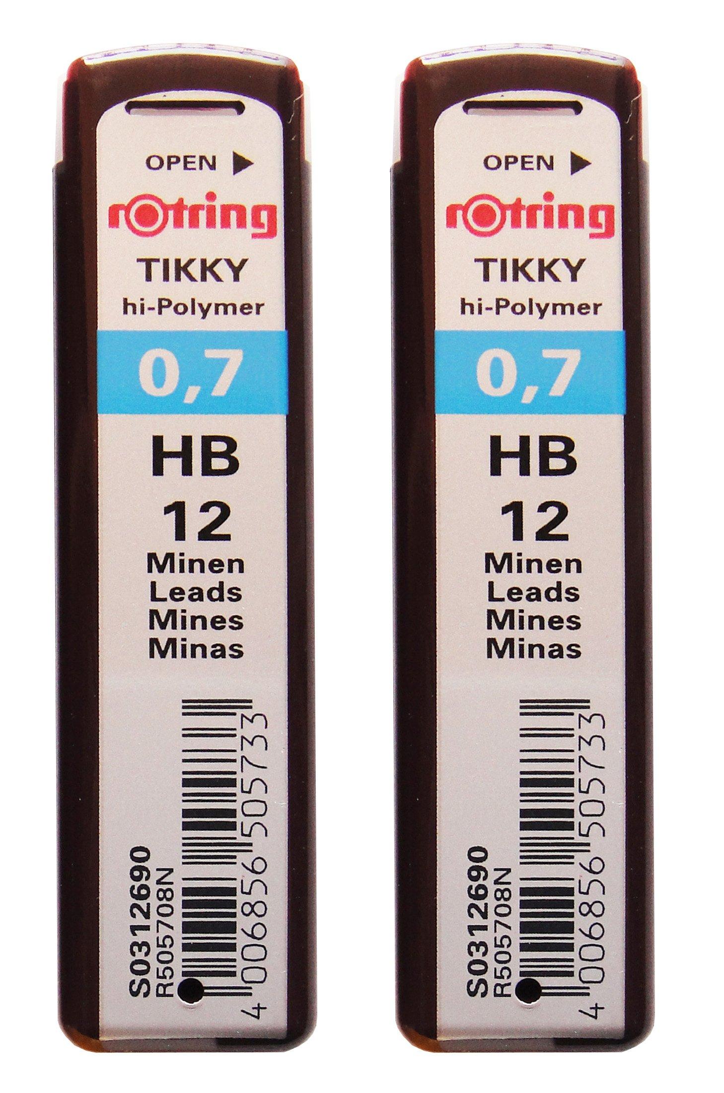 Rotring 24 Minas (2 Tubos) 0.7mm HB