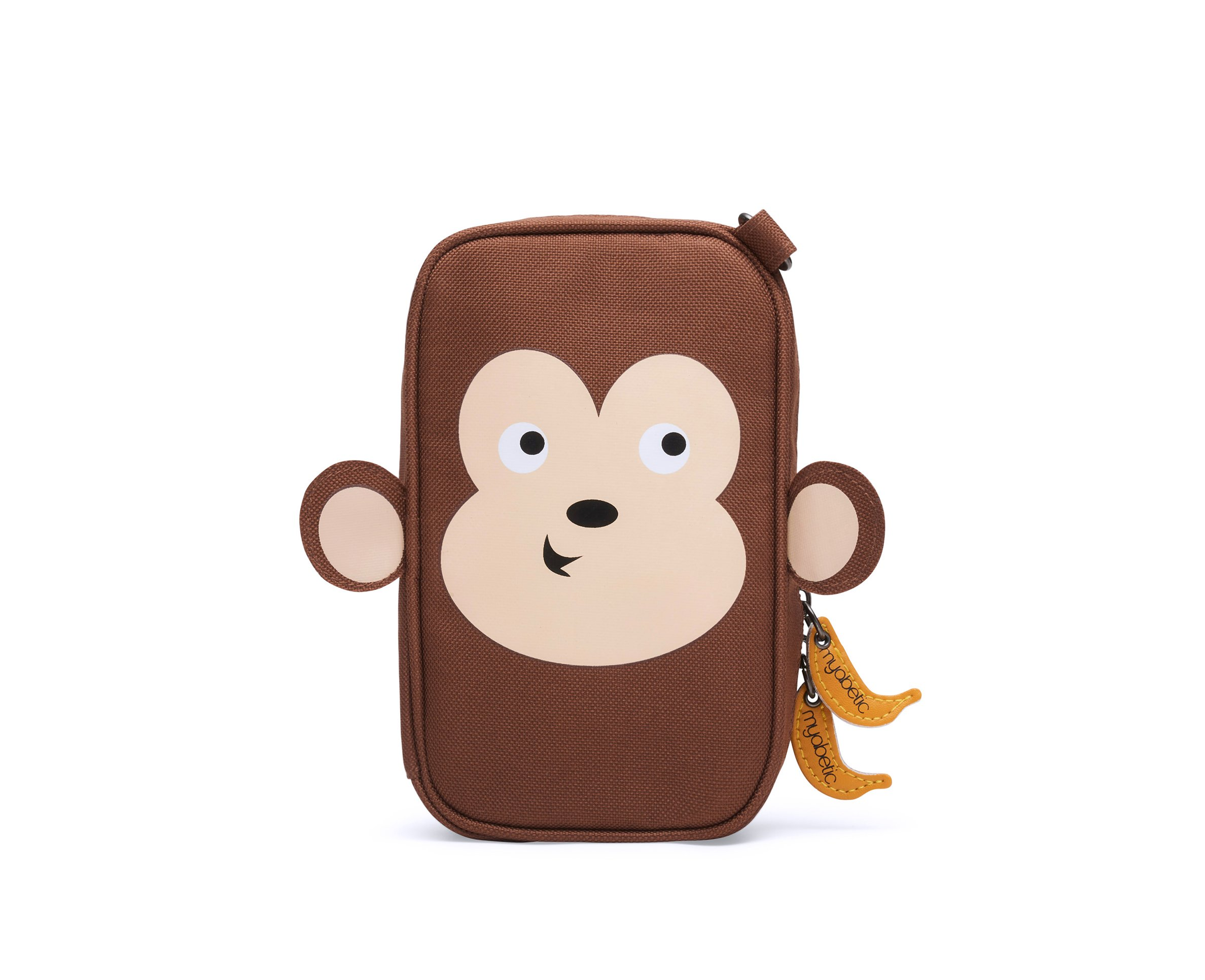 Myabetic Monkey Diabetes Case for Glucose Meter, Glucagon, Test Strips, Lancing Device, Includes Insulation