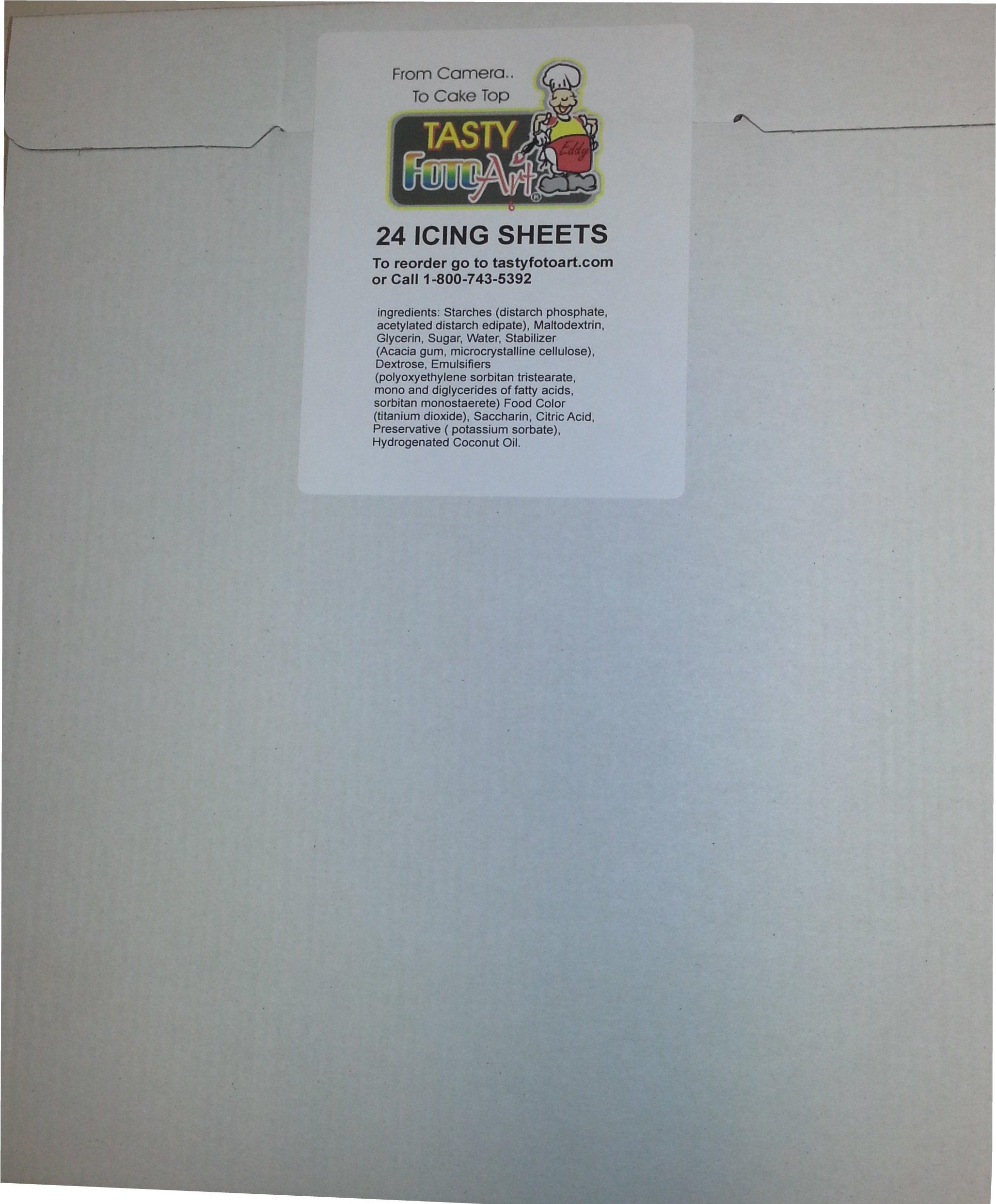 Amazon.com: Frosting Sheets, Icing Sheets, Sugar Sheets 8-1/2 X 10-1 ...