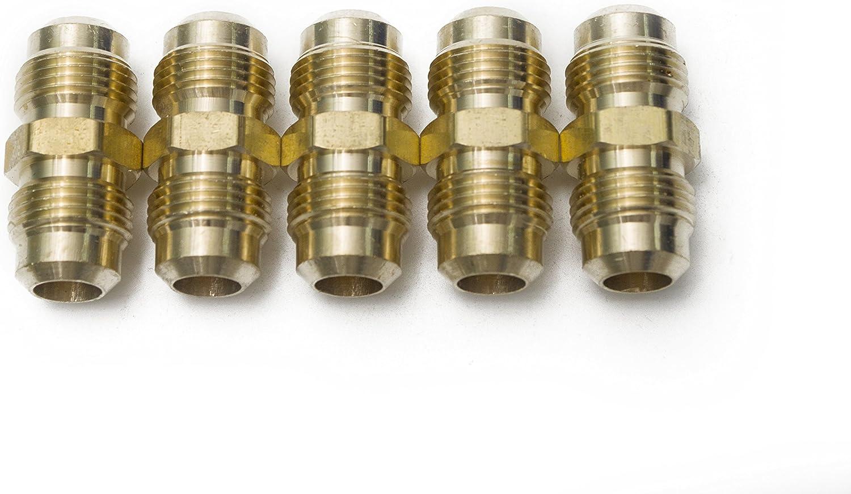 LTWFITTING Brass 1//4 OD Flare Union,Brass Flare Tube Fitting Pack of 30