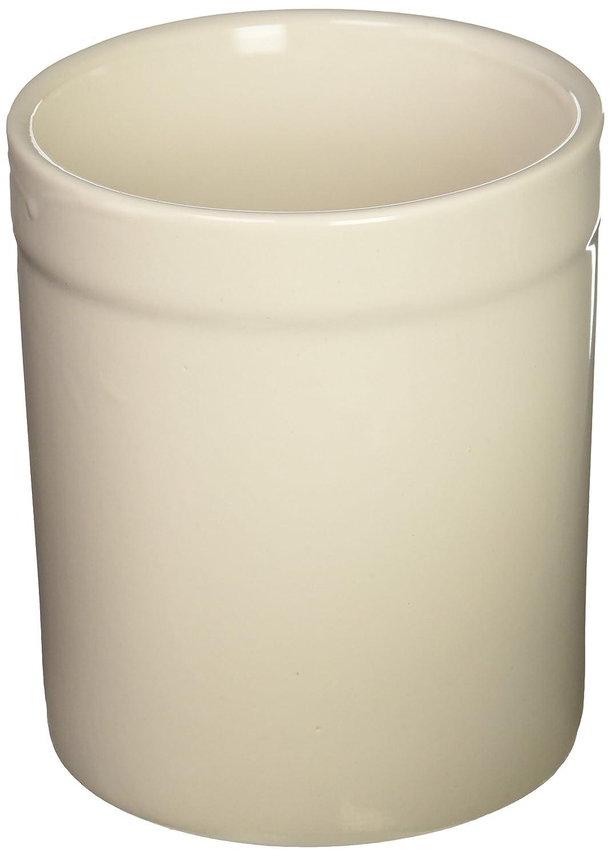 Fox Run 3908 Utensil Holder, White Stoneware 3950