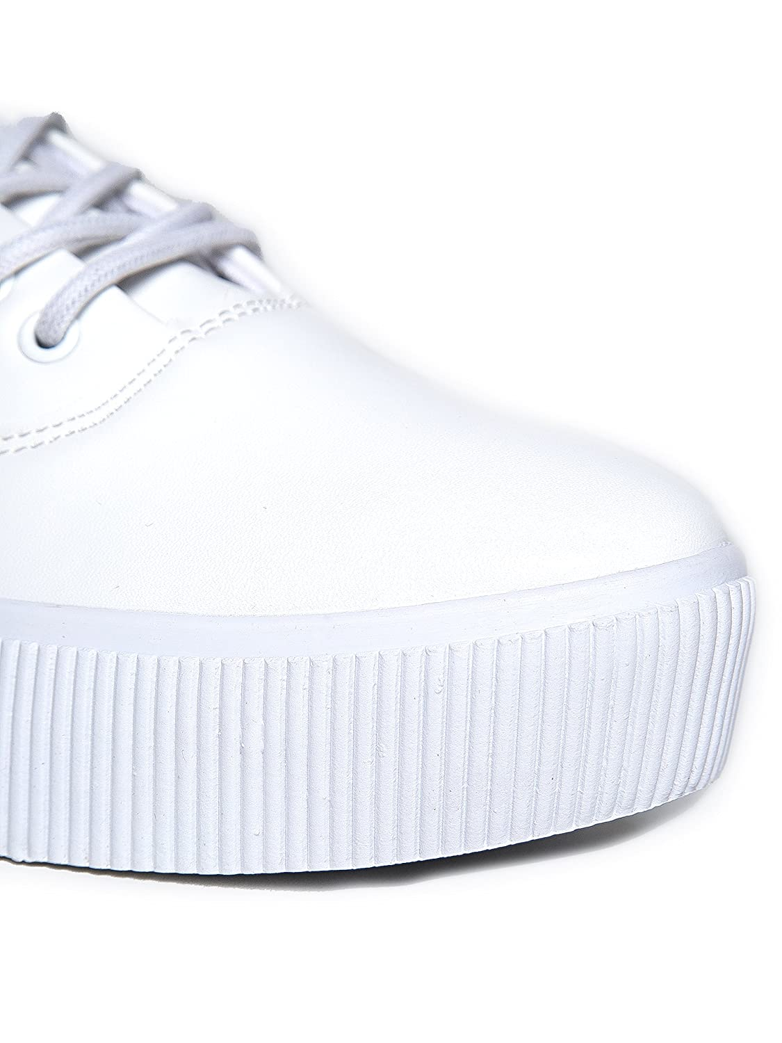Comfy Cute Casual Walking Shoe Sugar White Cute To The Core Womens Lace Up Vegan Leather Sneaker