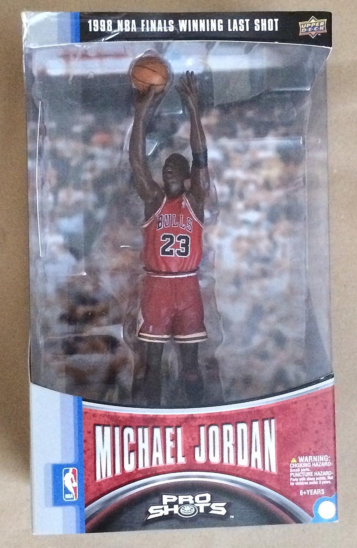 quality design 6ba83 186ed Upper Deck 1998 NBA Finals Winning Last Shot Michael Jordan Bulls #23 Red  Jersey Figure