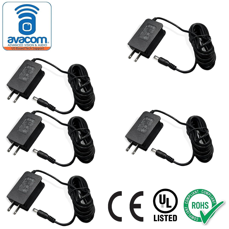 AVACOM AC / DCアダプタ、電源供給、12 V / 1 a ホワイト 12V/1A B075KQZLXD 11512  5パック