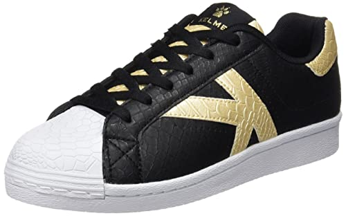 Kelme K-Legend, Zapatillas para Mujer, Negro/Oro, 39 EU