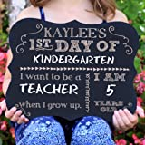 Amazon Price History for:First Day Of School Personalized Chalk Board Sign
