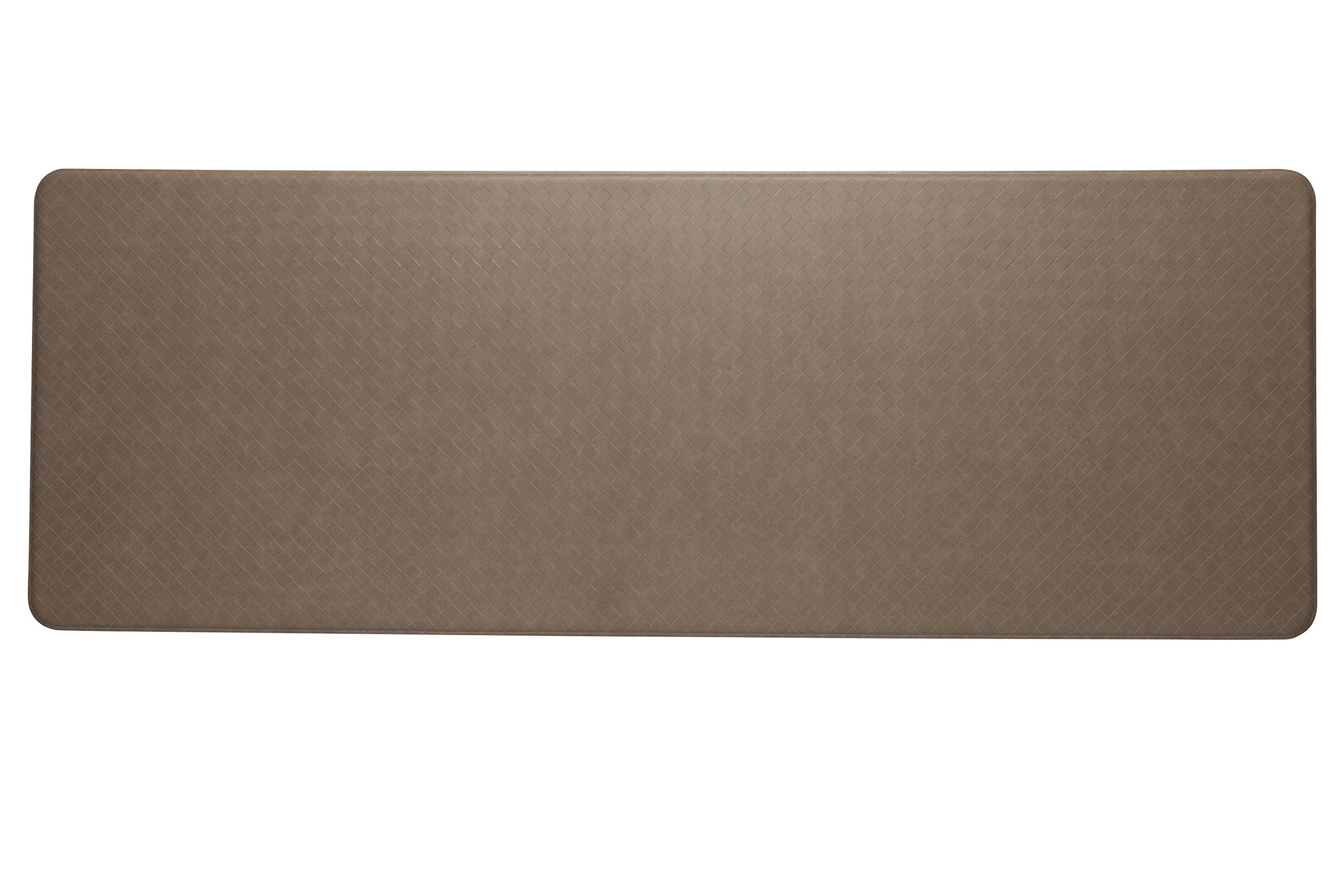 Imprint Cumulus9 Kitchen Mat Nantucket Series Island Area Runner  26 in. x 72 in. x 5/8 in. Mocha