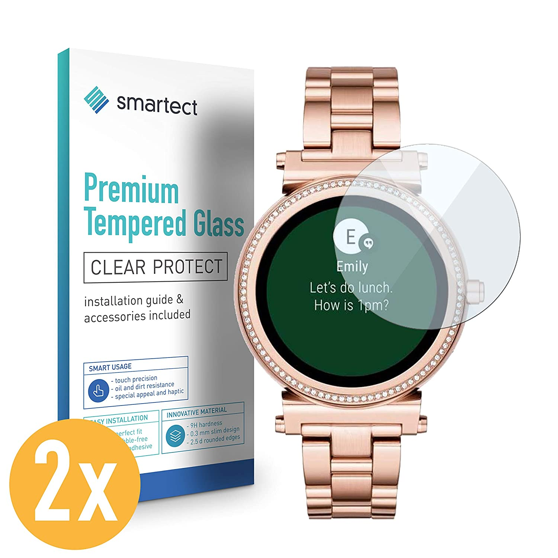smartect Protector de Pantalla para Michael Kors Access 38mm [2 Unidades] - 9H Cristal Templado - Diseño Ultrafino - Instalación Sin Burbujas - ...