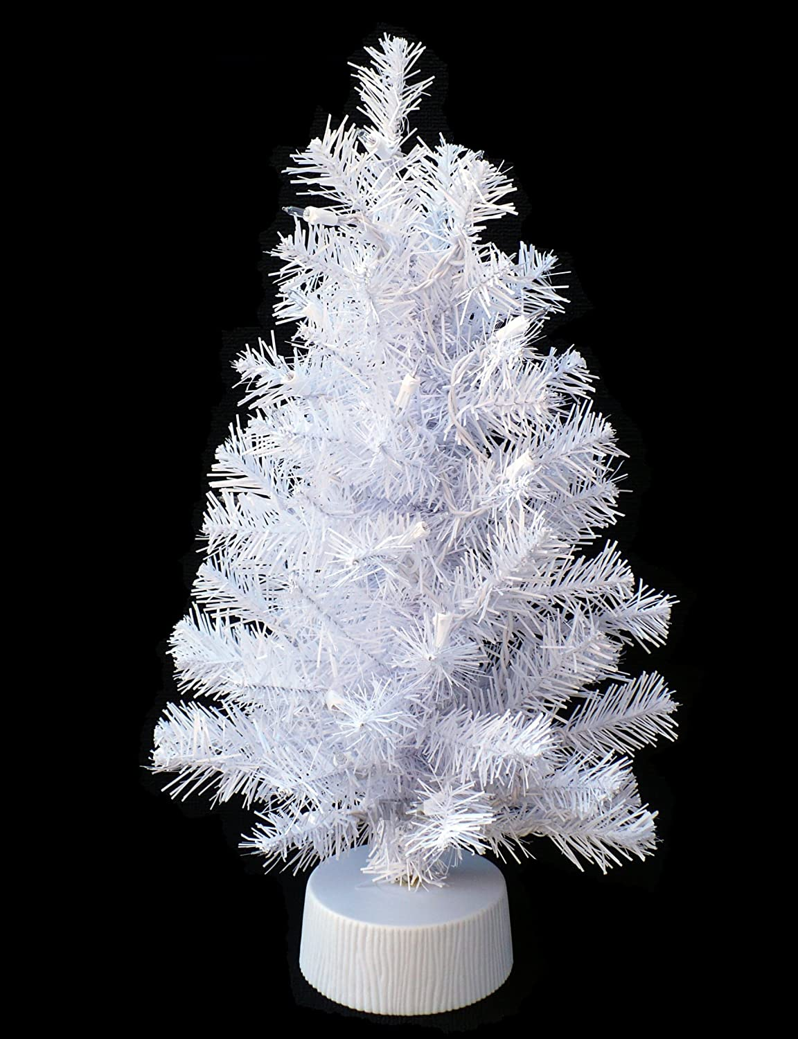 small white christmas tree with lights - Small White Christmas Tree