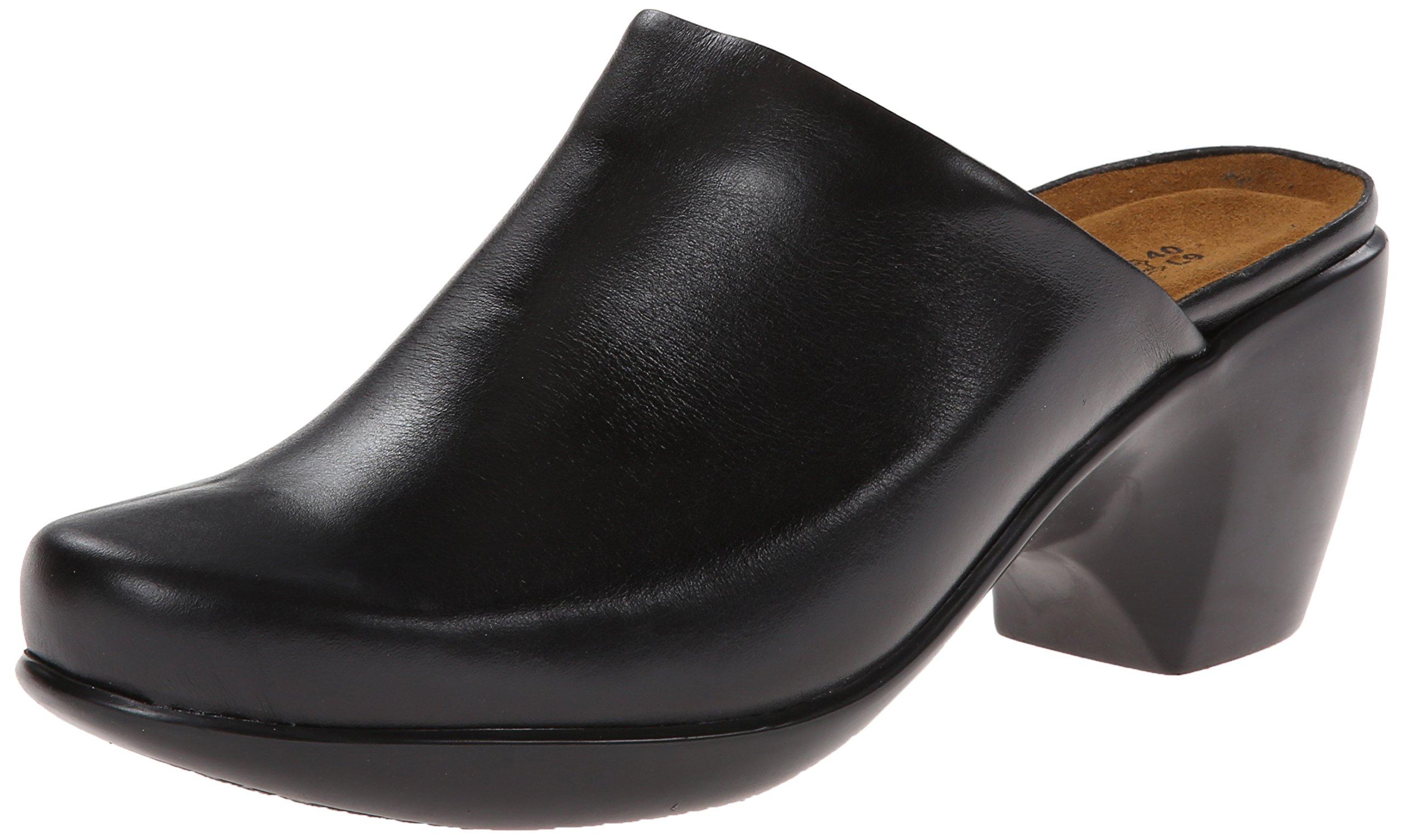 Naot Women's Dream Mule, Black Madras Leather, 38 EU/7 M US
