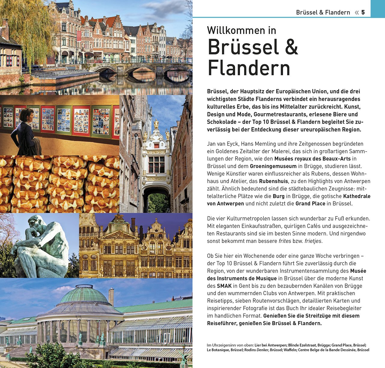 Brüssel Sehenswürdigkeiten Karte.Top 10 Reiseführer Brüssel Flandern Mit Extra Karte Und