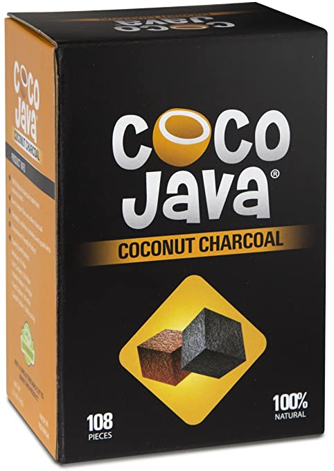 Amazon.com: Coco Java Natural Coconut Charcoal Hookah Shisha Coal 1KG/108 Pieces: Health & Personal Care