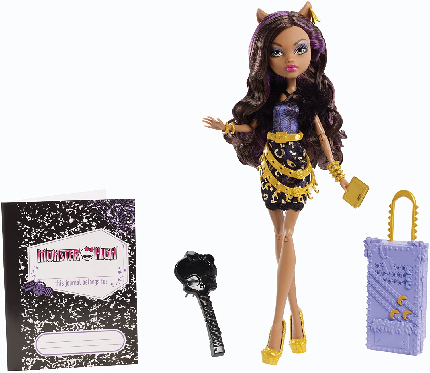 Amazon Com Monster High Travel Scaris Clawdeen Wolf Doll Toys Games