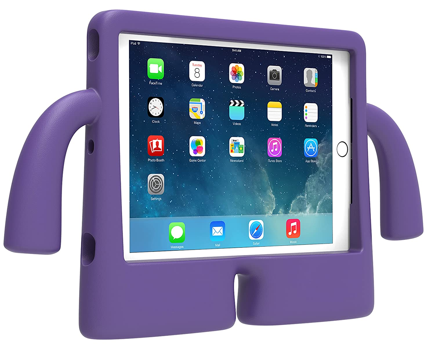 wholesale dealer a6a73 58546 Speck iGuy Kids Protective Rubberised Case Cover for iPad Air 2 - Purple  Grape