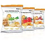 High Protein Chips – Veganer Eiweiß Fitness Snack Von Supplify – 14x50g Whey Proteinpulver- Riegel-Ersatz in 3 Versch. Geschmacksrichtungen – Nasche Guten Gewissens – 100% GELD-ZURÜCK-GENUSS-GARANTIE! Thai Sweet Chili