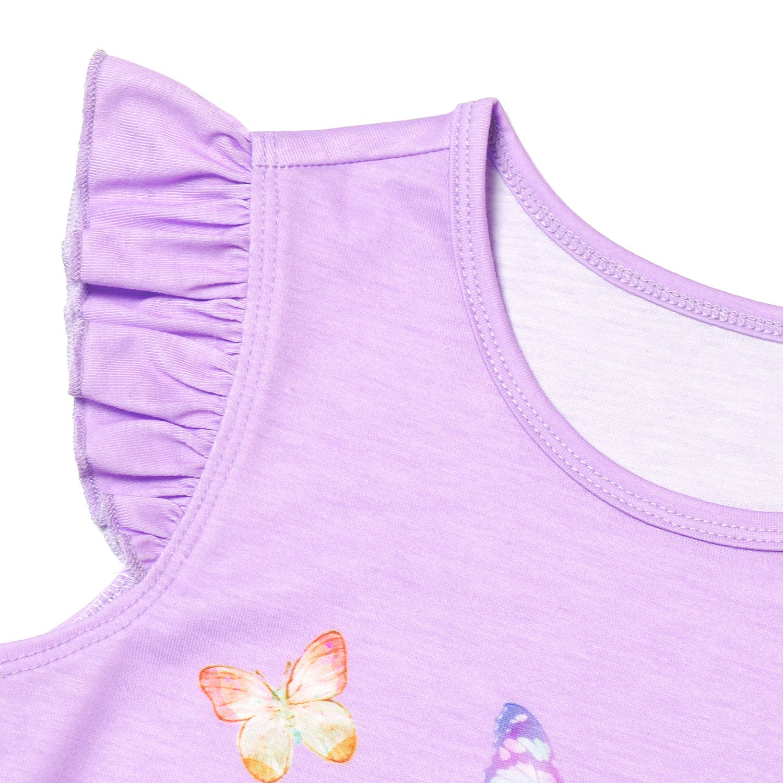 Girls Princess Nightgown Cotton Nightdress Sleepwear Pajamas Dress for Kids