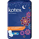 Kotex Soft and Smooth Slim Overnight 32cm Pads, 18 Pads