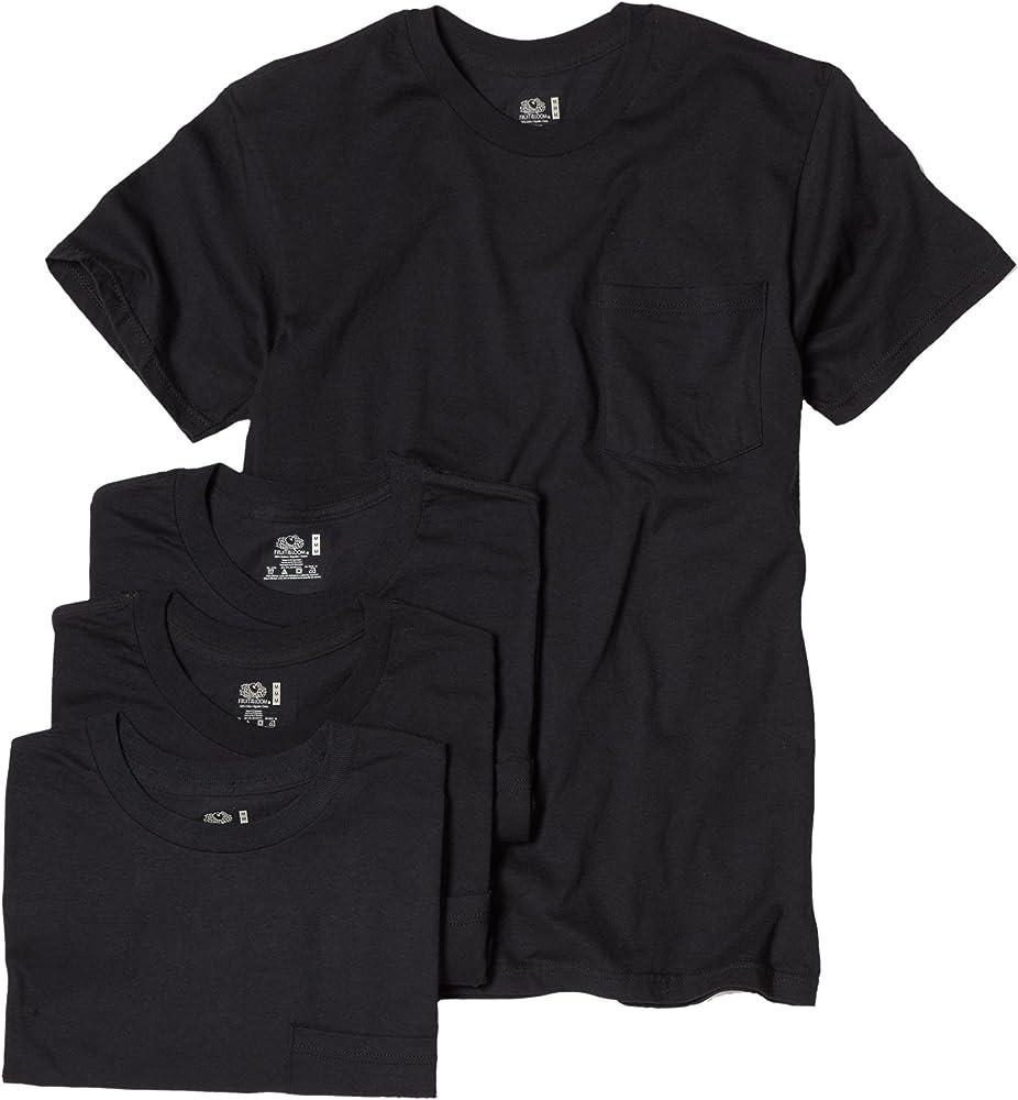 Fruit of the Loom – Camiseta de tees de bolsillo (4 unidades ...