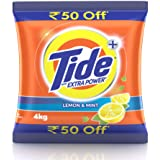 Tide Plus Detergent Washing Powder with Extra Power Lemon and Mint Pack - 4 kg (Rupees 50 off)