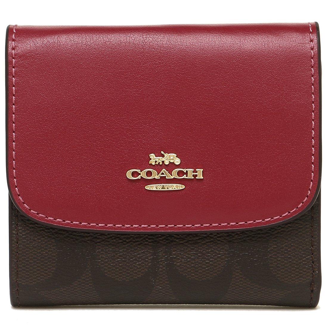[コーチ] COACH 財布 (三つ折り財布) F87589 シグネチャー 三つ折り財布 レディース [アウトレット品] [並行輸入品] B07FS9BVFC (3)IMNM4 ブラウン/ホットピンク (3)IMNM4 ブラウン/ホットピンク