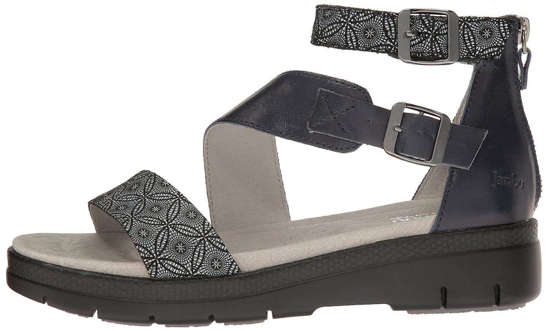 Jambu Women's Cape May Wedge Sandal B0032F10K4 9 B(M) US|Midnight Print