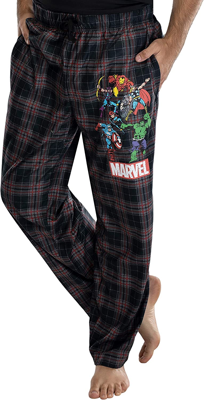 Marvel Mens Classic Comic Book Superhero Pajama Bottoms