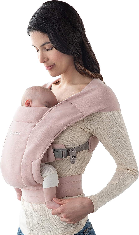 Ergobaby Embrace Mochila Portabebe Ergonómica Recién Nacidos, Extra Suave y Ultraligero, Rosa
