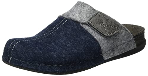 Bodo, Mules Homme, Gris Anthracite, 45 EUFischer