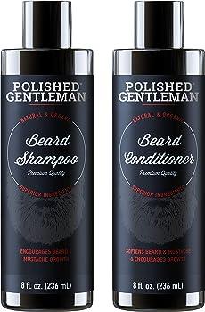 Polished Gentleman Men'S Beard Growth Shampoo and Conditioner Set