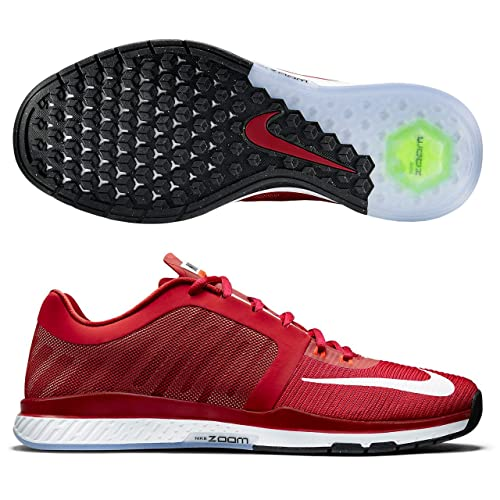 f965cb41e438 Nike Mens Zoom Speed TR 2015 Gym Red Bright Crimson White 12 D - Medium   Buy Online at Low Prices in India - Amazon.in