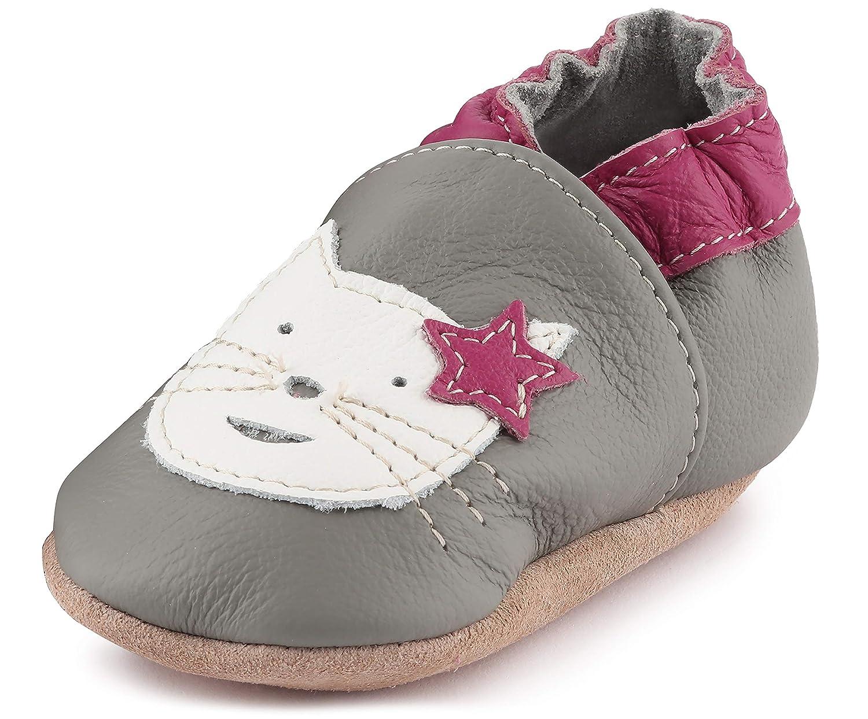 Ladeheid weiche Leder Babyschuhe mit rutschfesten Wildledersohlen LAFIO101