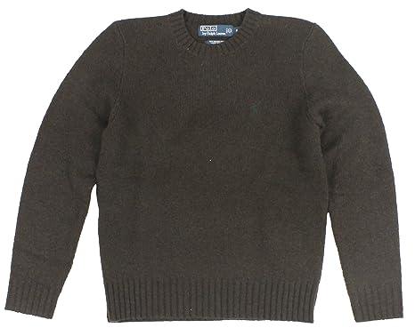 Polo Ralph Lauren Men Merino Wool Pony Logo Sweater (S, Brown)