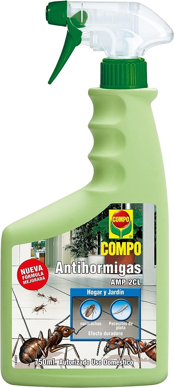 Compo Antihormigas, Envase pulverizador, Apto para Uso doméstico, Hogar y jardín, Efecto Duradero, 750 ml