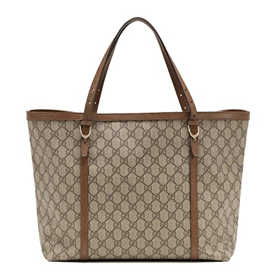 9fb0e89b101 Amazon.com  Gucci Nice GG Supreme Canvas and Leather Tote Bag 309613  Shoes