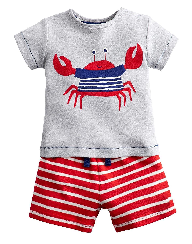 OHBABYKA Summer Boys/Girls' Animal Outfits Short Sleeve T-Shirt & Shorts Sets